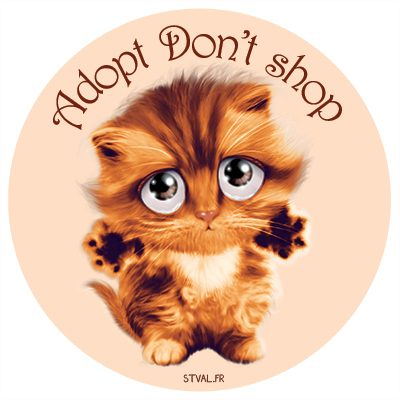 Adopt don't shop – Sticker