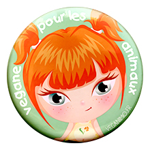 badge militante vegane