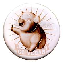 Go Vegan – Badge