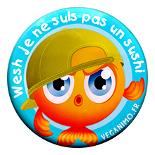 Pas un sushi – Badge