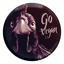 Go vegan II – Badge