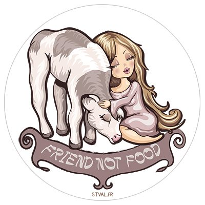 Friend not food – Sticker