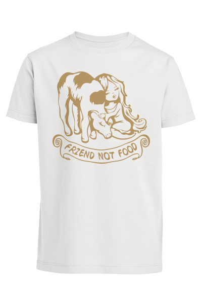 "Veau ""Friend not food"" T-shirt enfant en coton bio"