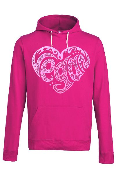 Coeur vegan – Sweat capuche