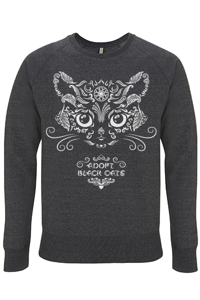 Adopt black cats – Sweat 100% recyclé