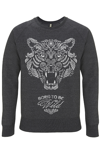 Born to be wild – Sweat unisex 100% recyclé