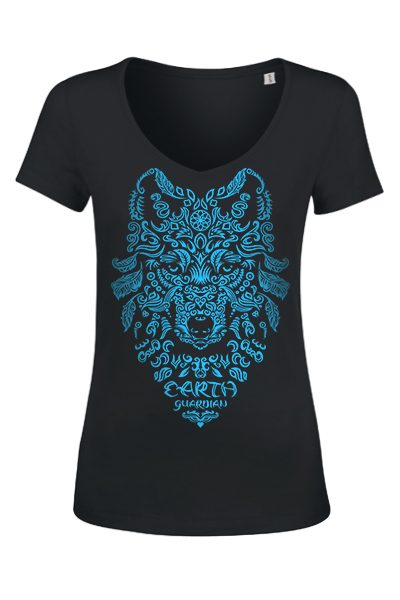 "_Loup ""Earth Guardian"" t-shirt femme en coton bio"