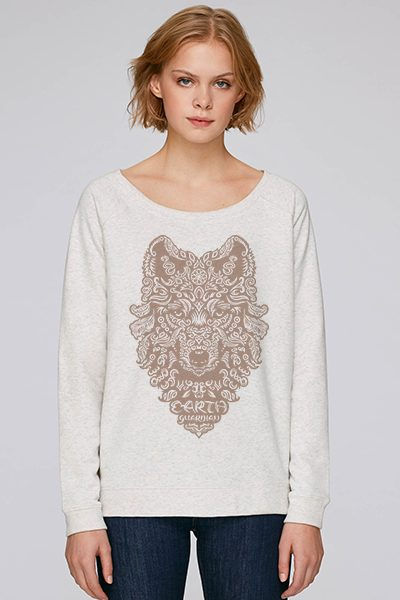 "Loup ""earth guardian"" sweat femme en coton bio"