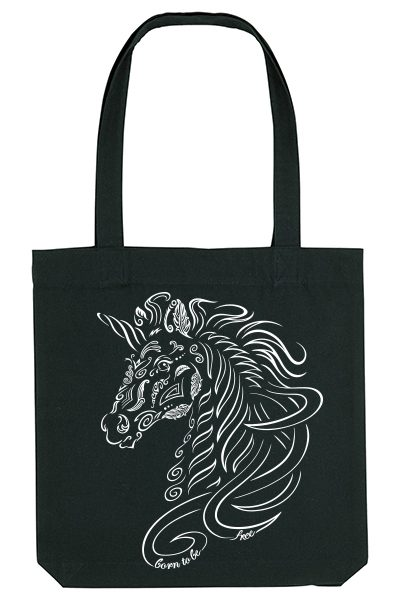 "Licorne ""Born to be free"" Sac 100% recyclé"