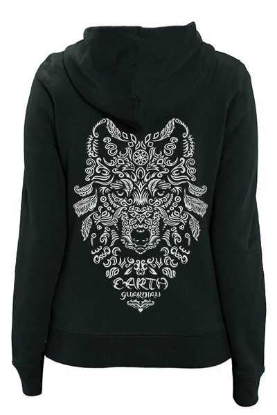 "Loup ""Earth Guardian"" sweat zippé femme en coton bio"