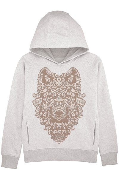 "Loup ""Earth guardian"" sweat à capuche femme en coton bio"