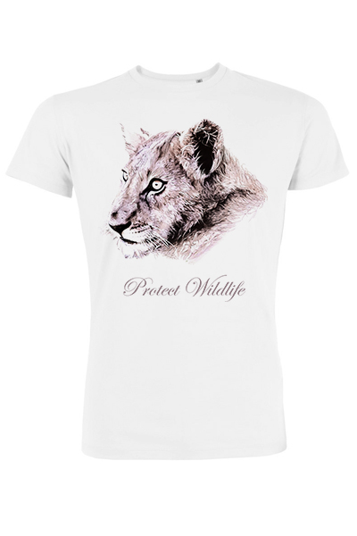 "Lion ""Protect Wildlife"" t-shirt homme en coton bio"