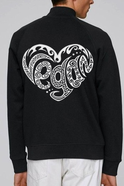 Coeur vegan sweat zippé en coton bio